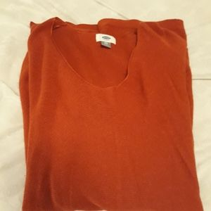 Old Navy Tunic Sweater - rust colored, xxl